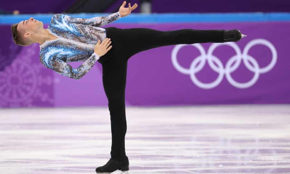 Rippon competes at the Pyeongchang 2018 Winter Olympics.