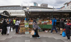 An outdoor market in Birmingham.