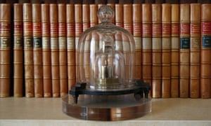 The international prototype of the kilogram at the International Bureau of Weights and Measures, in Sevres, near Paris.