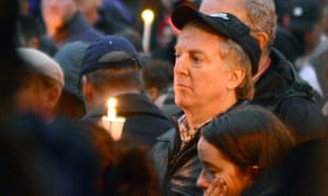 People take part in a candlelit vigil in the Squirrel Hill neighbourhood of Pittsburgh