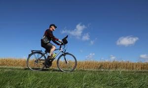 Freewheeling: Kevin Rushby heads for Kap Arkona in Rügen.