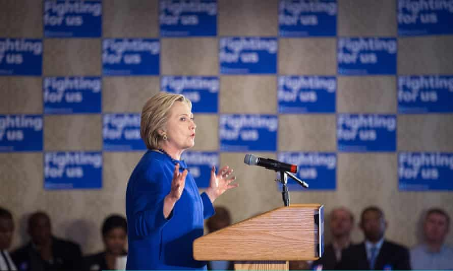 Hillary Clinton campaigning in Illinois ahead of the election.