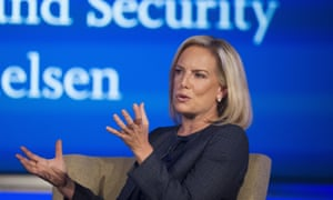 Secretary of homeland security Kirstjen Nielsen said 'legal loopholes' prevent the government from detaining and deporting migrant families.