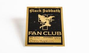 Black Sabbath fan club membership card 1993.