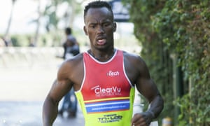 Mhlengi Gwala has represented South Africa at triathlons in the US and the Netherlands