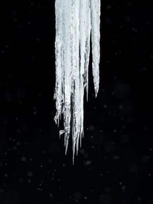 Below Zero (2017) An icicle growing from the roof of an ice cave, Thórsmörk, Iceland