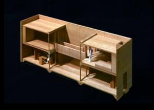 Model of Row House in Sumiyoshi – Azuma House, Osaka.