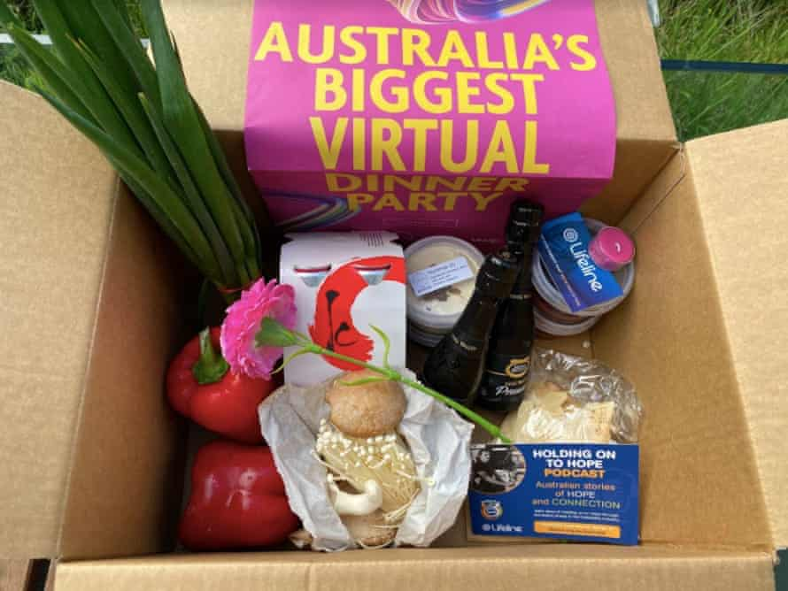 The ingredients for the Lifeline charity dinner in a box