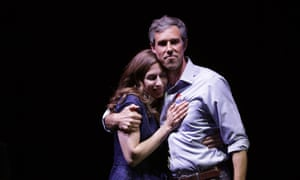 Beto O'rourke stands with his wife, Amy Sanders, at his election night party in El Paso, Texas on 6 November.
