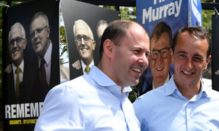 Josh Frydenberg with Liberal candidate for Wentworth Dave Sharma.