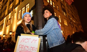 Protesters against Trump in New York City the day after his election victory.