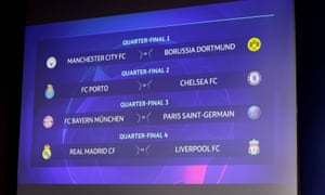 The Champions League quarter-final draw.