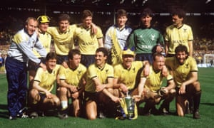 Oxford United celebrate with the trophy