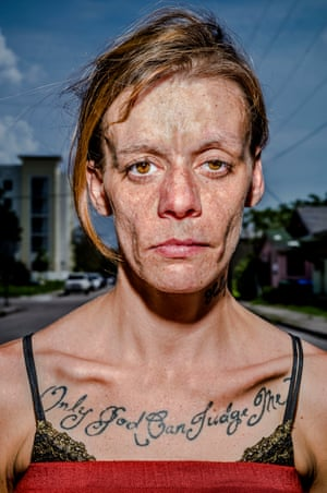 Only God Can Judge Me … Jessica, whose tattoo gave Bruce Gilden's Miami series its name.