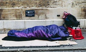 A person sleeps on the pavement in Oxford. Labour's John Healey said government rough sleeping data provided an unsound basis for forming public policy.