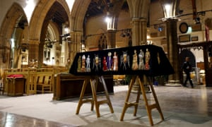 The coffin of Richard III at Leicester Cathedral