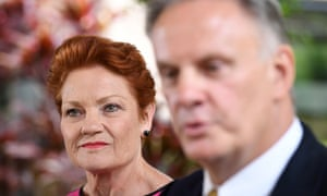 One Nation Party leader Pauline Hanson and Mark Latham