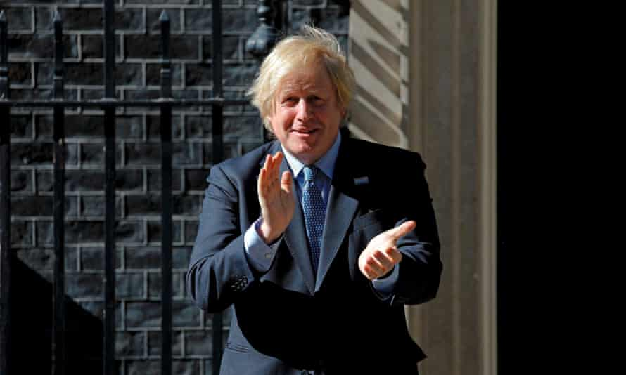 Boris Johnson claps