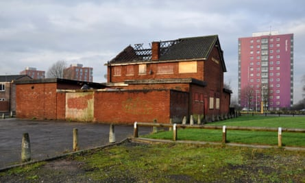 The derelict Billy Greens pub in Collyhurst, north Manchester.