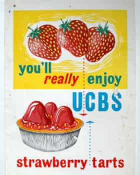 Kathleen Butlin's advertising material for United Co-operative Baking Society's strawberry tarts.