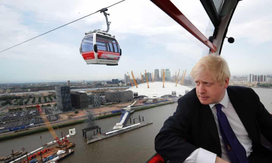 As London Mayor, Boris Johnson backed a £44 million cable car system spanning the Thames.