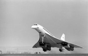 Concorde 002, the British prototype, takes off from Filton on her maiden flight on April 9th, 1969