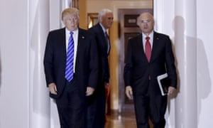 Donald Trump and Andy Puzder