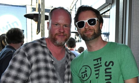 Joss Whedon and friend at Comic-Con.