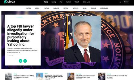 The homepage of Circa.com.