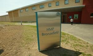 Bronzefield prison in Ashford, Middlesex.