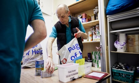 The weekly food bank centre in Birkenhead, one of 15 Trussell Trust emergency food banks in and around the Wirral town.