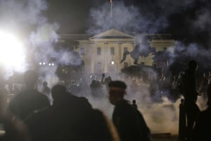 Protesters outside the White House. The fires lit by the killing of George Floyd ignited the biggest protest in half a century.