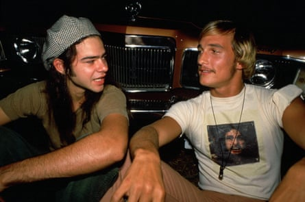 With Rory Cochrane, left, in Dazed and Confused, 1993.
