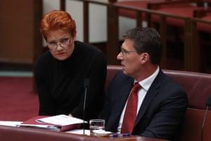 Pauline Hanson and Cory Bernardi