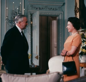 With Harold Wilson in 1969