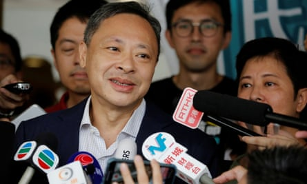 Benny Tai, an umbrella movement leader who was arrested on Tuesday.
