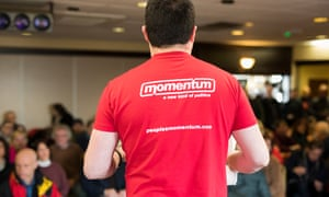 A momentum campaigner in Mansfield