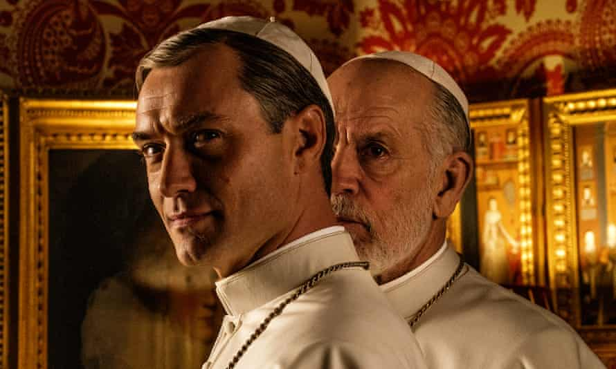 Jude Law and John Malkovich in The New Pope.