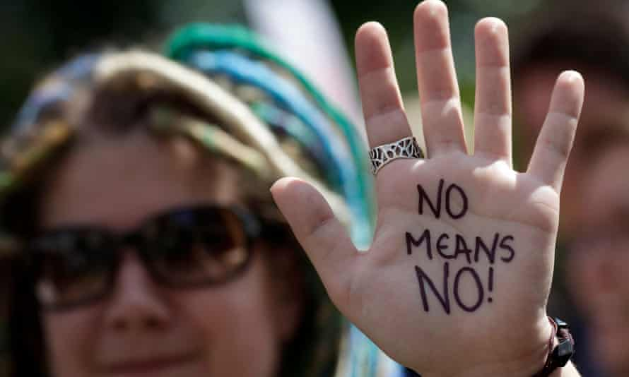 An anti-rape protest in London