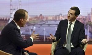 George Osborne explains his plans to Andrew Marr.