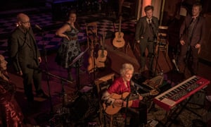Seeger, seated, with Hannah Martin, Findlay Napier, Nancy Kerr, Tim Yates and Greg Russell, at St John on Bethnal Green.