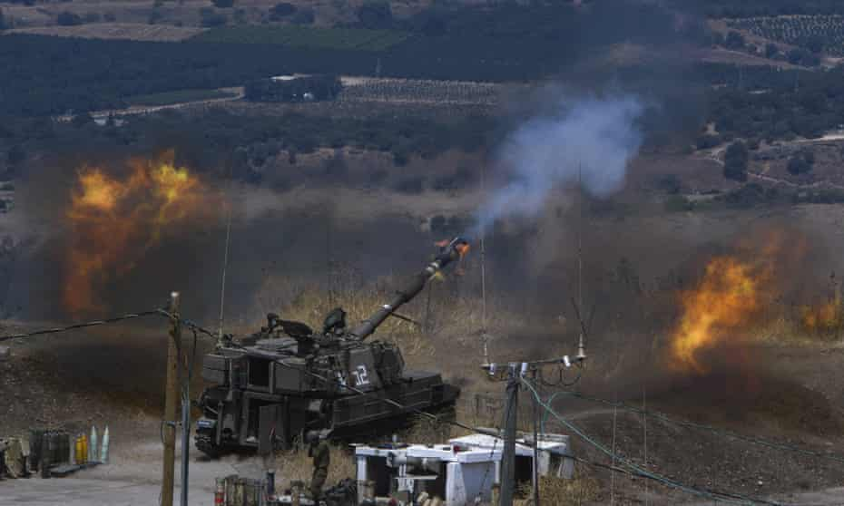 The blazes along the Gaza frontier broke out on Friday as Israel separately traded fire over its northern border with Lebanon's Iran-backed Hezbollah.