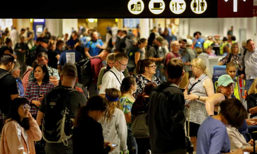 Passengers at Seattle-Tacoma airport were stranded Friday night.