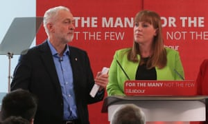 Jeremy Corbyn and Angela Rayner announce Labour plans for education during a general election campaign visit in Leeds.