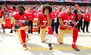 Colin Kaepernick is still in exile from the NFL after peacefully protesting against racism in the US