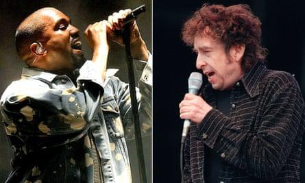 Kanye West and Bob Dylan