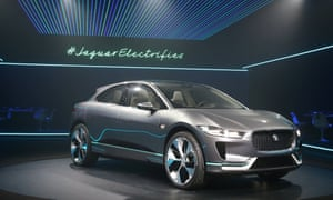 The electric Jaguar I-Pace SUV was unveiled at the Los Angeles Auto Show in California, US, on 14 November.