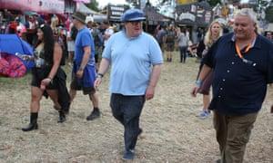 Tom Watson at Glastonbury 2017.