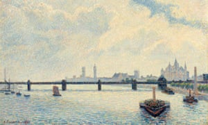 Detail from Camille Pissarro's Charing Cross Bridge (1890)