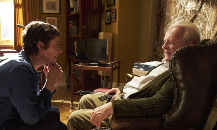 Masterful performance … Anthony Hopkins (right) with Olivia Colman in The Father.
